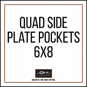 Side Plate Pocket,Tactical,6in x 8in,Blk