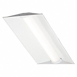 LED Recessed Troffer, LED Replacement For 3 Lamp LFL, 4000K, Lumens 5000, Rated Life 75,000 hr.