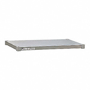 "48"" x 20"" x 2"" 18 Gauge Aluminum Additional Shelf, Aluminum&#x3b; PK1"