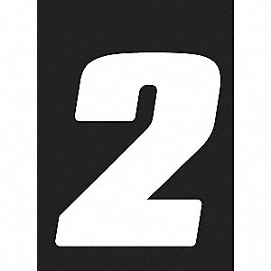 Number Label,Wht,5-1/2 in. H,No. 2,PK12