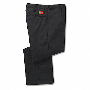 "Black Flame Resistant Pant, 88% Cotton / 12% Nylon, Fits Waist Size: 46"", 28"" Inseam, 12.2 cal./cm2"