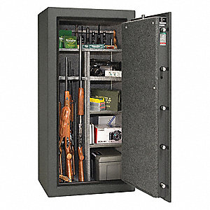 Gun Safe,Granite/Chrome,605 lb.,Steel