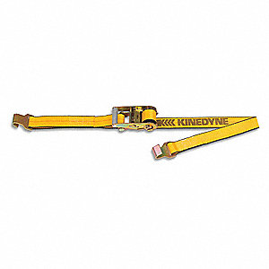 "Tie Down Strap, 27 ft.L x 2""W, 1670 lb. Load Limit, Adjustment: Ratchet"