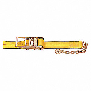 "Tie Down Strap, 30 ft.L x 4""W, 5400 lb. Load Limit, Adjustment: Ratchet"