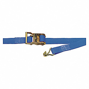 "Tie Down Strap, 15 ft.L x 1-3/4""W, 1670 lb. Load Limit, Adjustment: Ratchet"