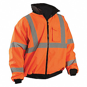 High Visibility Jacket,Orange,4XL