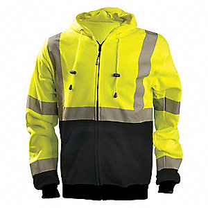 Sweatshirt,Hi-Vis Yellow,5XL