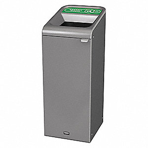 Recycle Container,Rectangle,15 gal.,Gray