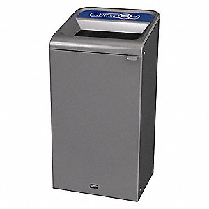 Recycling Container,Square,23 gal.,Gray