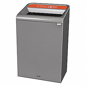 Recycle Container,Rectangle,33 gal.,Gray