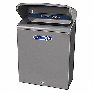 "Configure 45 gal. Rectangular Open Top Utility Trash Can, 45-7/8""H, Gray"