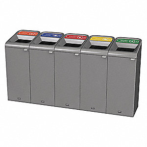 Recycle System,Rectangle,30 gal.,Gray