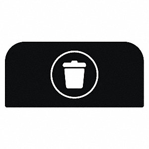 "Recycle Label,8-1/2""H x 1-25/32""W,Blk"