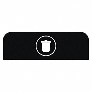 "Black Recycle Label, 18-7/8"" Length, 1-25/32"" Width, 8-1/2"" Height"