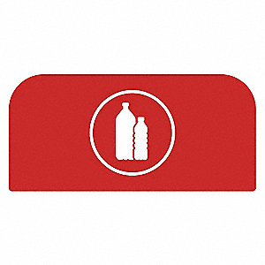 "Recycle Label,8-1/2""H x 1-25/32""W,Red"