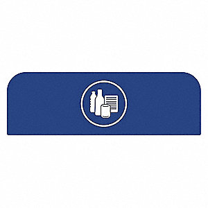"Blue Recycle Label, 18-7/8"" Length, 1-25/32"" Width, 8-1/2"" Height"