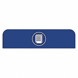 "Blue Recycle Label, 23-41/64"" Length, 1-25/32"" Width, 8-1/2"" Height"