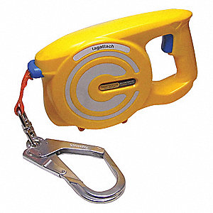 8 m Retractable Tagline, Yellow/Orange/Gray