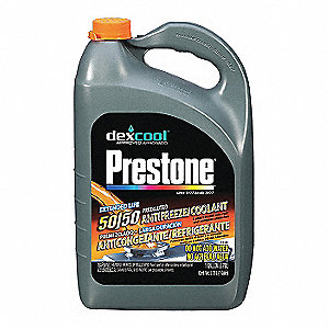 Antifreeze Coolant, 1 gal , Plastic Bottle, Dilution Ratio : Pre-Diluted,  -34° Freezing Point (F)