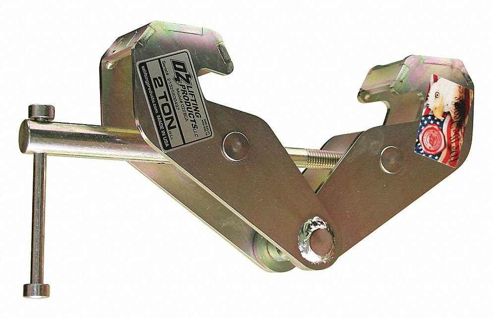 Beam Clamp,  Manual,  4,000 lb Safe Working Load,  3 in to 9 in Jaw Capacity,  Shaft