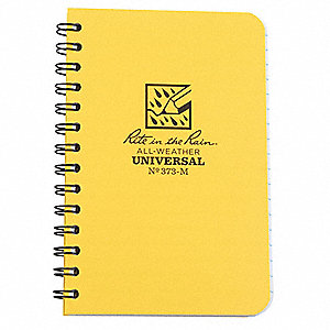 Pocket Notebook,50 Sheets,Yellow Cover