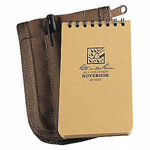 Notebook Kit, 50 Sheets, Tan Cover, 20lb