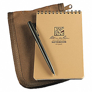 Notebook Kit,4in x 6in Sheet,Tan Cover