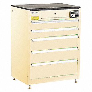 MANAGEMENT CABINET,TAN,5 DRAWERS,20IN.D