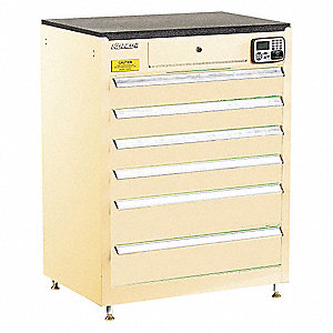 MANAGEMENT CABINET,TAN,6 DRAWERS,20IN.D