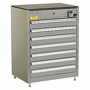 MANAGEMENT CABINET,GRAY,7 DRAWERS,20IN.D