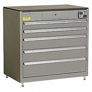 MANAGEMENT CABINET,GRAY,5 DRAWERS,24IN.D