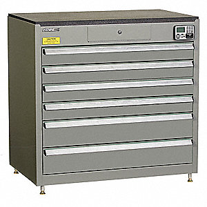 MANAGEMENT CABINET,GRAY,6 DRAWERS,24IN.D