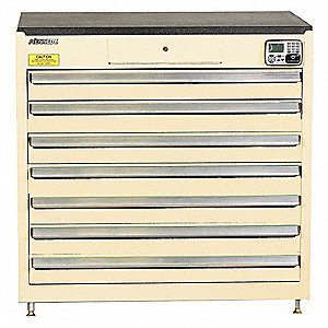 MANAGEMENT CABINET,TAN,7 DRAWERS,24IN.D