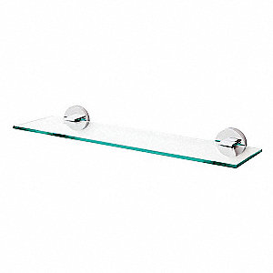 Towel Shelf,Polished Chrome,5-19/64 in.D