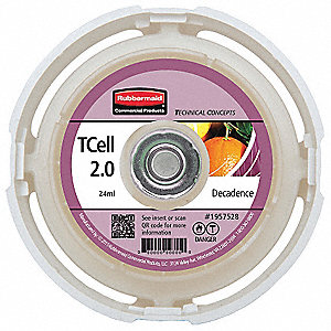 Air Freshener Refill, Rubbermaid® TCell™ 2.0, 45 days Refill Life, Decadent Fragrance
