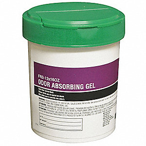 (12) 8oz. Canisters Gel Odor Reducer for Odor Maskant