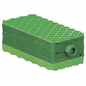 Vibration Isolation Pad,2-29/32 in. H