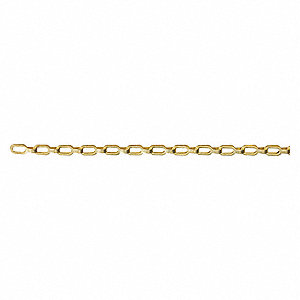 100 ft. Plumber Chain, 1/0 Trade Size, 35 lb. Working Load Limit, For Lifting: No