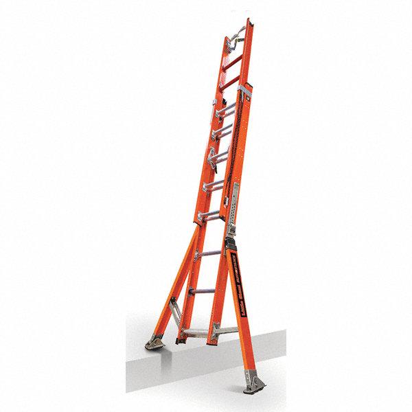 Little Giant 16 Ft Fiberglass Extension Ladder 375 Lb