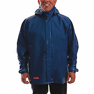 Flame-Resistant Jacket,Blue,2XL,32 in. L