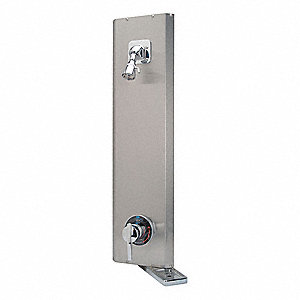 "1.20 gpm Wall Mounted Shower Unit, Stainless Steel, 32"" Height, 8-13/16"" Width"