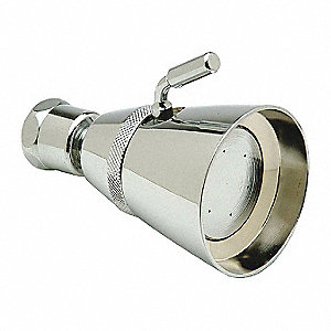"Metal Wall Mounted Shower Head, 1.50 gpm, 1/2"" FNPT Connection Type"