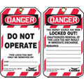 Lockout Tag, Plastic, Do Not Operate This Lock/Tag May Only Be Removed By, 5-3/4