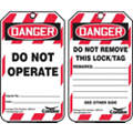 "Lockout Tag, Plastic, Do Not Operate, 5-3/4"" x 3-1/4"", 10 PK"
