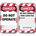 Lockout Tag, Polyethylene Plastic, Danger Do Not Operate, 5-3/4