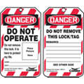 Lockout Tag, Polyethylene Plastic