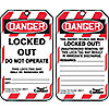 LOCKOUT TAG,3-1/4 IN.W,3/8IN.HOLE,PK25