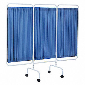 "3 Panel, 81"" x 69"" Privacy Screen, Blue"
