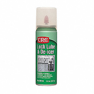 Lock Lubricant, 0°F to 120 Degrees F, Graphite, 2 oz. Aerosol Can