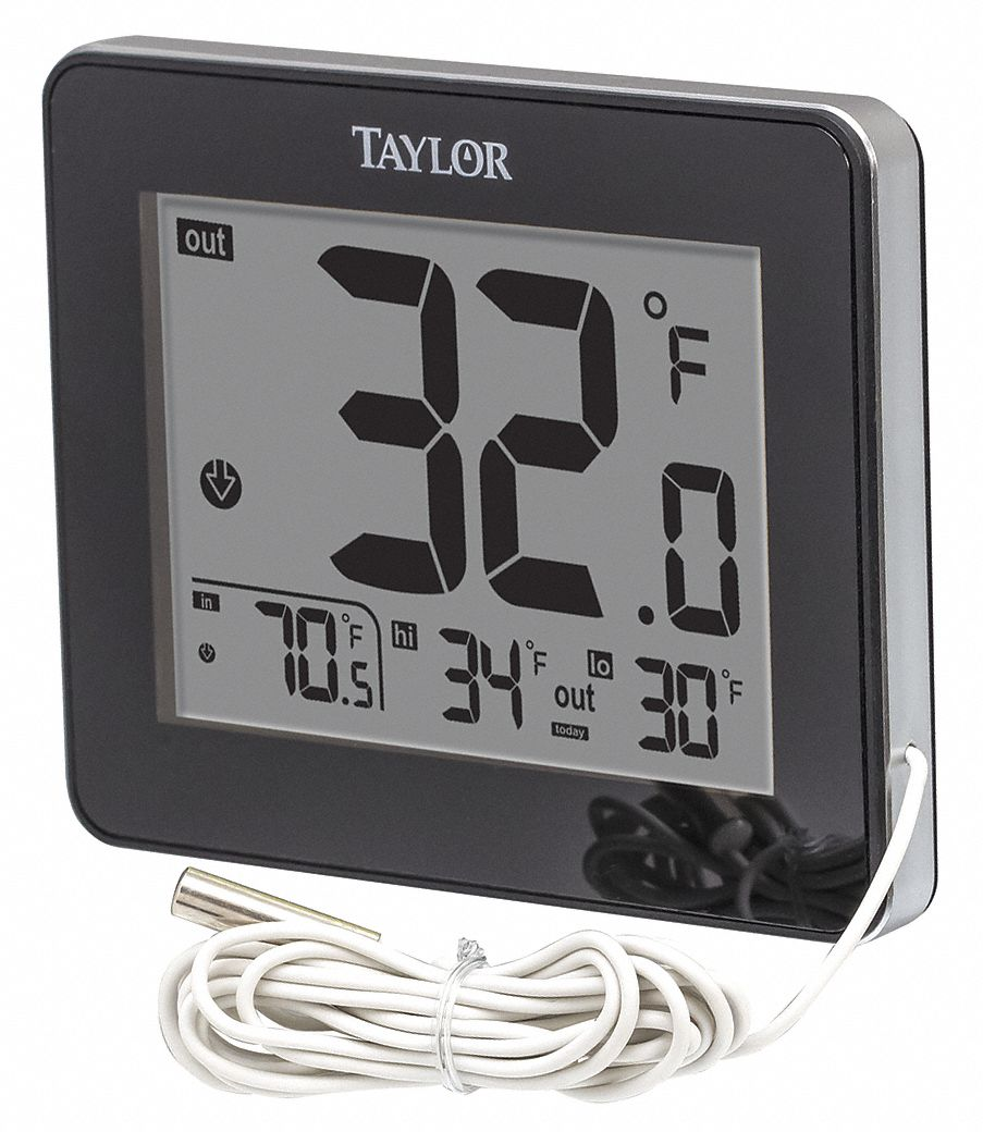 Digital Thermometer, -40 to 158 F, LCD